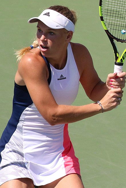 Wozniacki playing at the 2016 US Open Wozniacki USOPEN2016.jpg