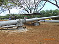 Wrecked type 89 15 cm cannon low.JPG