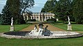 Wrest Park - Fountain and Pond - Orangery in the background.JPG