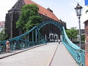 Ostrów Tumski, Wrocław - Image: Wroclaw Most Tumski