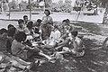 "YOUTH ALIYA"" YOUNGSTERS AT KIBBUTZ MAABAROT. בני נוער מ""עליית הנוער"" בקיבוץ מעברות.D833-001.jpg"
