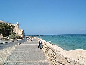 Yaffo sea wall boardwalk