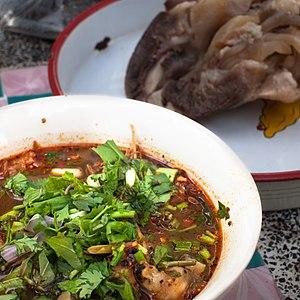Buffalo meat - Image: Yam tin khwai