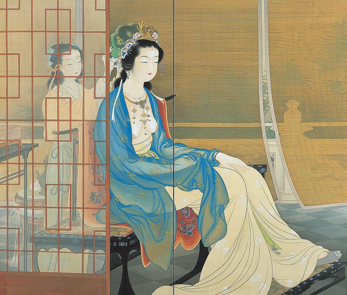 File Yang Guifei By Uemura Shoen  Shohaku Art Museum  Jpg