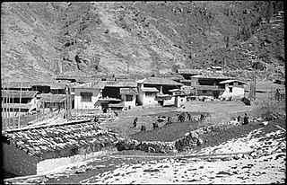 Shashima Town in Tibet, Peoples Republic of China