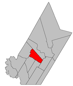Location within York County.