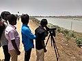 Young bird watchers at Kurichi Kulam.jpg