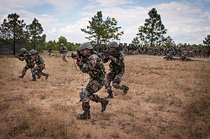 Military education and training - 5 Gorkha Rifles (Frontier Force) of Indian Army training with 82nd Airborne Division of United States Army