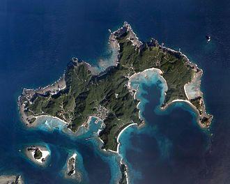 Zamami Island - Aerial view of Zamami Island