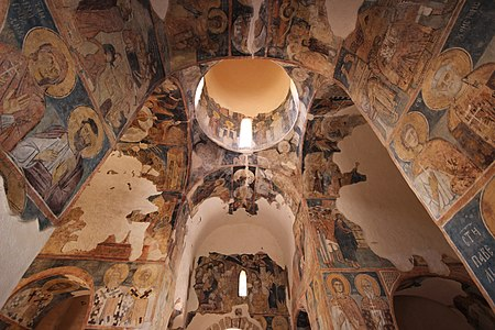 14th century frescoes in the katholikon of Zemen Monastery, Bulgaria