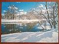Zimowy krajobraz na puzzlach 1000 elementów firmy Axel - luty 2021.jpg