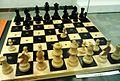 Zobaczyc niewidoczne exhibition in Biblioteka Raczynskich, Poznan (Chess for the blind).jpg