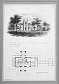 """Belmead"", James River, Virginia, Residence of Philip St. George Cocke (vignette of riverside elevation and plan) MET MM75519.jpg"