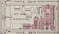 """MT. SINAI HOSPITAL"" with proposed buildings map in 1916, from- Bromley Manhattan Plate 120 publ. 1916 (cropped).jpg"