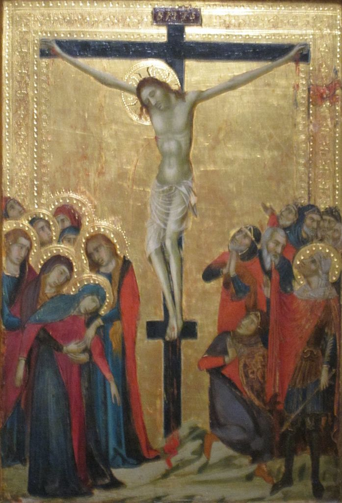 Crucifixion Tempera Panel Painting The Master Monte Oliveto