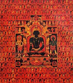 'The Dhyani Buddha Akshobhya', Tibetan thangka, late 13th century, Honolulu Academy of Arts.jpg