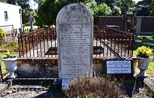 William Montagu Manning - Manning's grave at St Jude's Church cemetery, Randwick