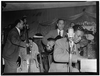 Wesley Prince - Nat Cole with Oscar Moore and Wesley Prince (right) 1946. Photo: William P. Gottlieb