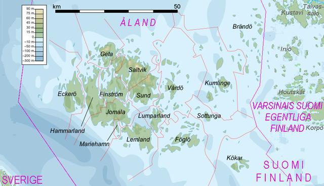 Karte von Åland