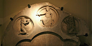 Mosan art - Curtius Museum, Liège. Pierre Boudon or Apollo relief (12th century)
