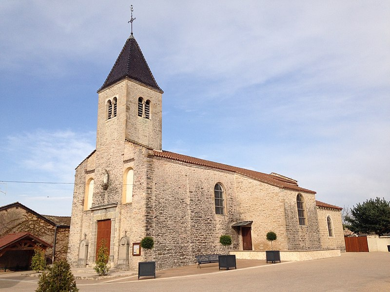 Église du village de Garnerans