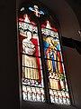 Église Saint-Nicolas de Courcelles, vitrail l. une sainte, r. St.Nicolas.JPG