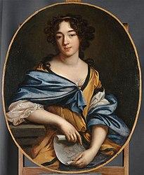 Élisabeth Sophie Chéron: Self-portrait in the Louvre