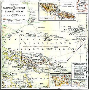 Lage Deutsch-Neuguinea