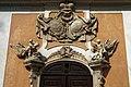 Český Krumlov - Zámecká zahrada - Castle Gardens - Zámecká jízdárna - Castle Riding School - Winterreitschule - View NW on Coat of Arms 1746 by Jan Antonín Zinner.jpg