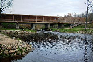 Žadvainiai.Kelio ir pėsčiųjų tiltas per Jūrą.Foto:Vilensija