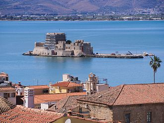 Nafplio - View of Bourtzi.