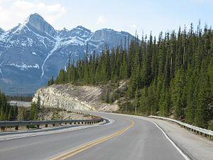 Alberta Highway 93 - Highway 93 near Banff