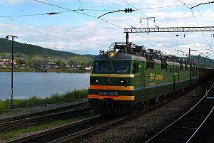 Petrovsk-Zabaykalsky District - Train at Petrovsky Zavod railway station in the town of Petrovsk-Zabaykalsky