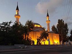 Евпатория. Мечеть Джума-Джами вечером..JPG