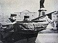 На улицах Льежа. Немецкие солдаты на автомобиле ожидают атаки бельгийцев (1914).jpg