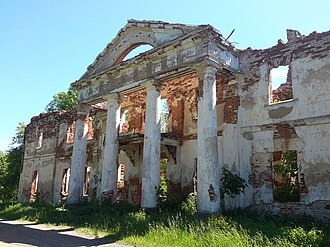 Obol (town) - Remains of Hrabnicki Palace,  a cultural heritage monument of Belarus