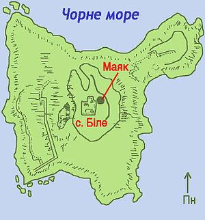 Snake Island (Black Sea) - Map of the island