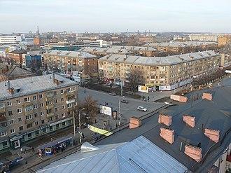 Tula Oblast - Image: Перекресток ул. Фрунзе и Красноармейского пр та (Frunze and Krasnoarmeisky crossing) panoramio