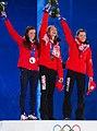 Победители Женская индивидуальная гонка на XXII Зимних Олимпийских играх Сочи.jpg