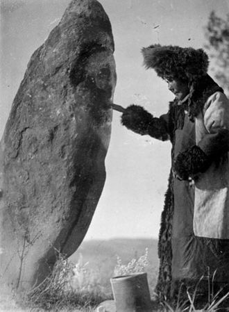 Umay - The ritual feeding of an Umay idol in Khakassia, Russia
