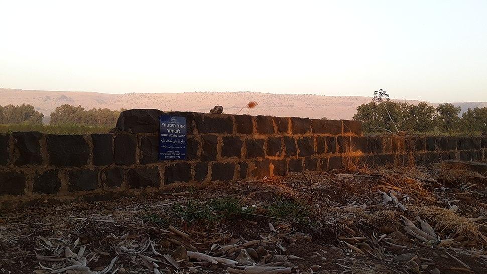 שרידי המזח ביסוד המעלה (4) - אוקטובר 2016