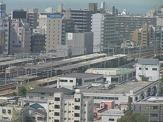 Akashi, Hyōgo - Image: 山陽電鉄明石駅・明石天文台より俯瞰P91 60007