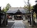 浅間神社 (笛吹市) 拝殿(注連縄背後).JPG