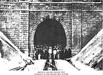 Kowloon–Canton Railway - Beacon Hill Tunnel in 1910, south portal.