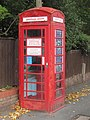 -2019-10-10 Old telephone box used as a Geology & wildlife point, Harbord Road, Overstrand, Norfolk (1).JPG