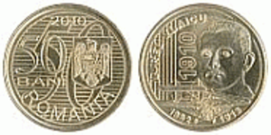 Fifty bani - Obverse