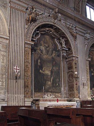 Santa Lucia in Selci - Landi Chapel, by Francesco Borromini