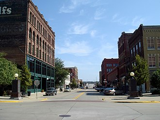 Sioux City, Iowa - Historic Fourth Street, Downtown.