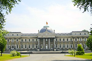 Belgian Royal Question - Modern view of the Royal Palace of Laeken, where Leopold was imprisoned during the occupation