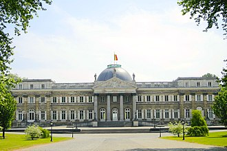 German occupation of Belgium during World War II - Modern view of the Royal Palace of Laeken, where Leopold was imprisoned during the occupation